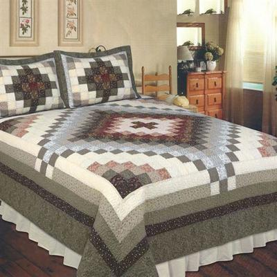 Sahara Patchwork Quilt Charcoal, Super King, Charcoal