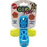 Ethical Pet - Ethical Pet Geo Play Dual Textured Jack Dog Toy, Color Varies, 2.5-in