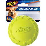Nerf Dog Squeaker Tire Ball Dog Toy, Green