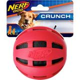 Nerf Dog Crunch Checker Ball Dog Toy, Red