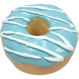 fouFIT - fouFIT Donut Squeaky Dog Chew Toy, Blue