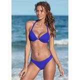 Venus Enhancer Halter TOP Push-Up Bikini Tops - Blue