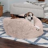 FurHaven Plush Ball Pillow Dog Bed w/Removable Cover, Shell, Large