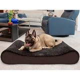 FurHaven Ultra Plush Luxe Lounger Memory Foam Dog Bed w/Removable Cover, Chocolate, Jumbo Plus