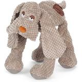 Fab Dog Floppy Squeaky Plush Dog Toy, Beige, Small