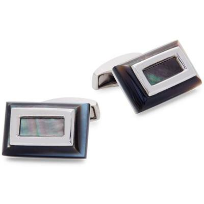 Rhodium-plated & Mother-of-pearl Cufflinks - Metallic - Tateossian Cufflinks