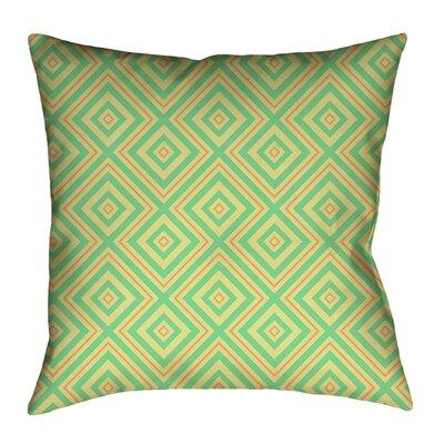 Latitude Run Avicia Throw Pillow Cover Material Faux Linen Polyester Polyfill Polyester Polyester Blend Cotton In Green Orange Size 18 X 18 Shefinds