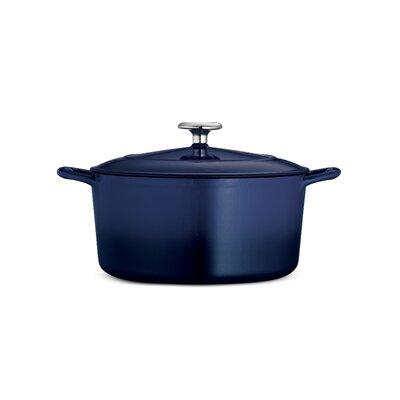 Tramontina Tramontina Gourmet Enameled Cast Iron Round Covered Casserole Cast Iron Enameled In Gradated Cobalt Size 5 5 Qt Wayfair 80131 075ds From Wayfair Accuweather Shop