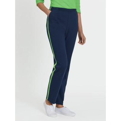 Women's Fresh Sport Pants, Navy/Lime XL Misses