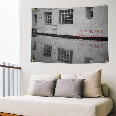 East Urban Home Polyester Dont Believe In Global Warming Reflection Tapestry Polyester In Gray Size 26 H X 36 W X 1 D Wayfair Shefinds