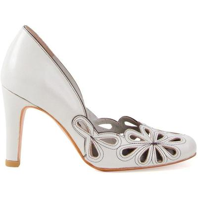 Women\\\'s Sarah Chofakian High-heel Pumps - White - Pumps Off white leather high-heel pumps from Sarah Chofakian. Material:Goat Skin. This item may not be on sale in France, UK, Italy, Belgium and Switzerland.