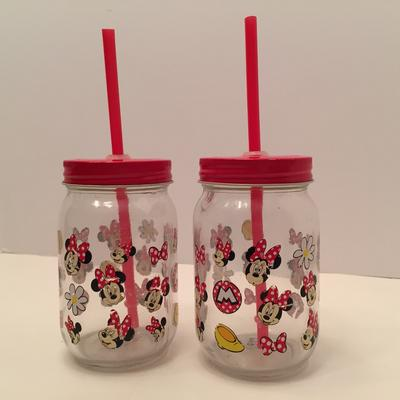 Disney Kitchen | 2 Vintage Mickey Mouse Drinking Glasses - Disney | Color: Black/Red | Size: Os