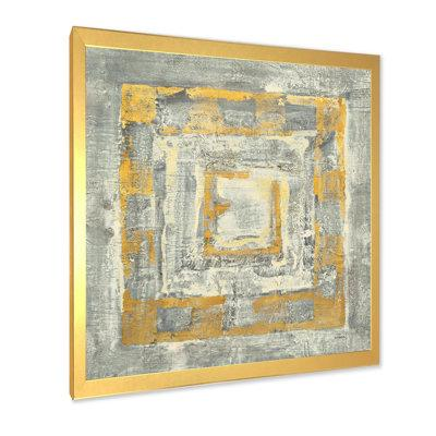 East Urban Home Gold Glam On Gray Tapestry I Picture Frame Print On Canvas Fcoi6781 Format Gold Framed Size 46 H X 46 W X 1 5 D Shefinds