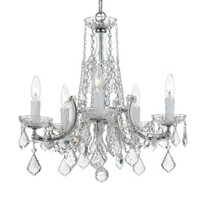 1 Light Mini Crystal Beaded Nursery Chandelier (Black