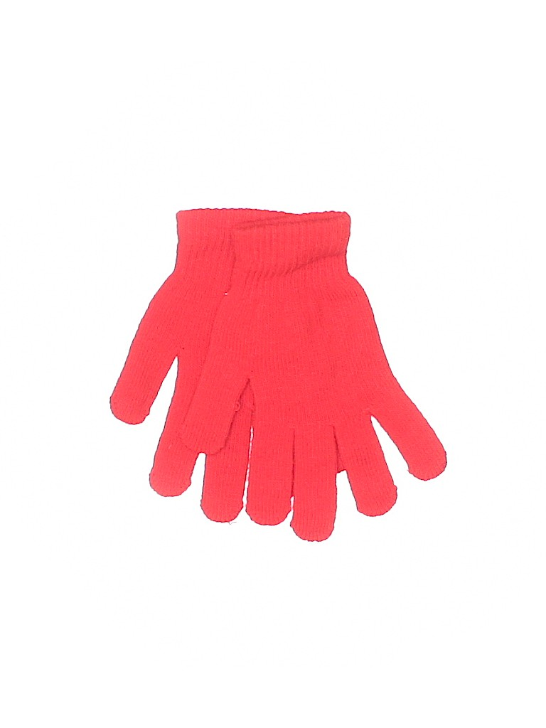 Gloves: Red Solid Accessories
