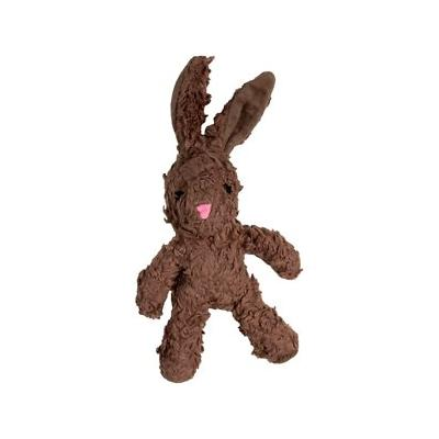 Spunky Pup - Spunky Pup Craft Collection Organic Cotton Bunny Squeaky Plush Dog Toy, Small