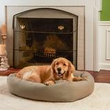 Happy Hounds Molly Rectangle Indoor & Outdoor Bumper Dog Bed w/ Removable Cover, Greystone, Large/Extra Large
