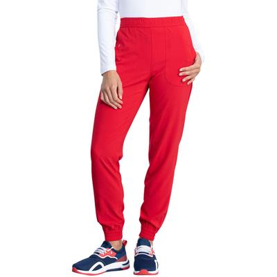 Dickies Women's Retro Mid Rise Jogger Scrub Pants - Red Size S (L10582)