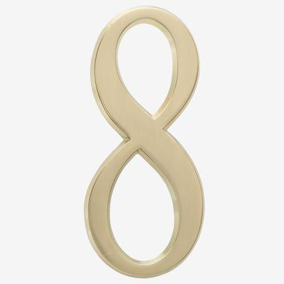 """Numbers, Size 4¾"""" in #8 Gold by Whitehall Products"""