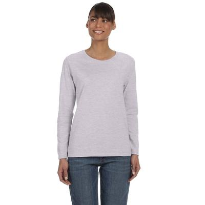 Gildan G540L Women's Heavy Cotton 5.3 oz. Long-Sleeve T-Shirt in Sport Grey size 2XL G5400L, 5400L
