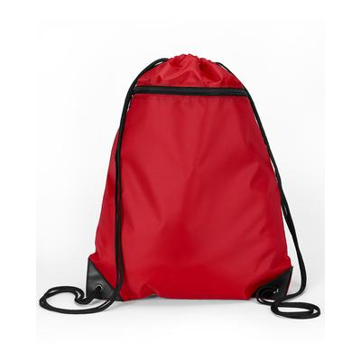 Liberty Bags 8888 Zipper Drawstring Backpack in Red | Nylon