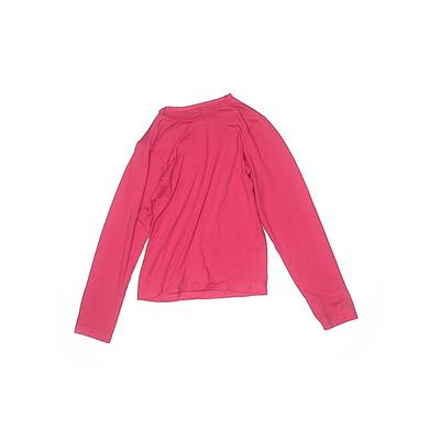 Assorted Brands Active T-Shirt: Pink Solid Sporting & Activewear - Size 7