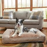 Frisco Plush Orthopedic Bolster Dog Bed w/Removable Cover, Beige, X-Large