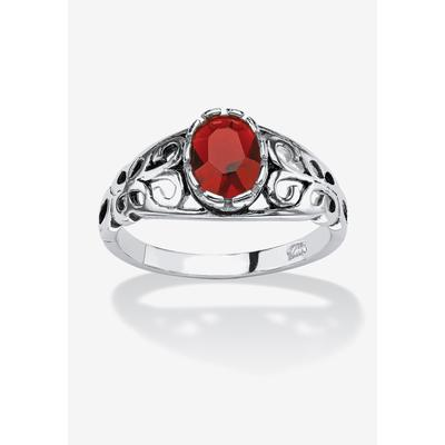 Jewel Zone US Oval Shape Red Simulated Ruby /& White Natural Diamond Crab Pendant in Gold Over Sterling Silver
