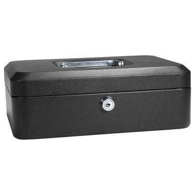 Barska CB11832 Cash Box w/ Key Lock - (3) Compartment Tray, Steel, Black