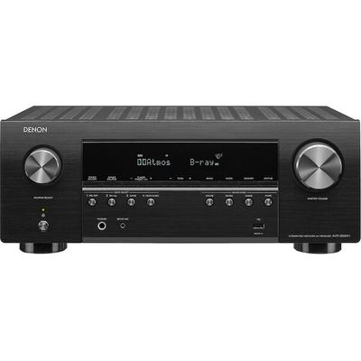 home theater receiver 7-channel amplifier; 90 watts per channel with 2 channels driven,Dolby Atmos and DTS:X(tm) for immersive surround sound,HEOS Built-in technology offers internet music streaming and wireless whole home audio with compatible components