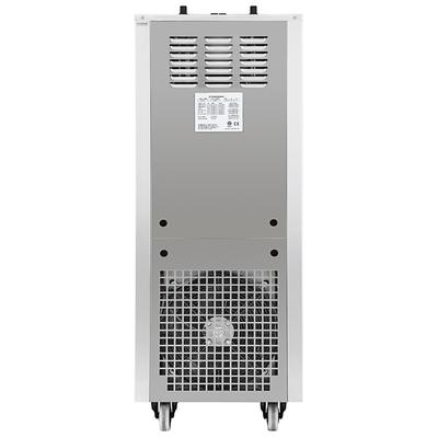 Spaceman 6250A-C Soft Serve Floor Model Ice Cream Machine with Air Pump, 2 Hoppers, and 3 Dispensers - 208-230V