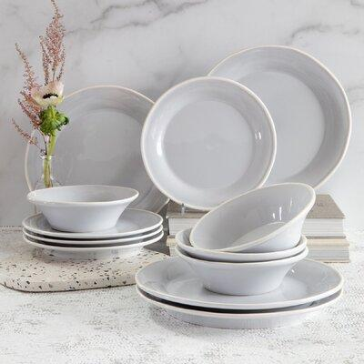 Viva By Vietriviva By Vietri Chroma 12 Piece Dinnerware Set Service For 4 In White Wayfair Vcrm W003000s 12 Dailymail