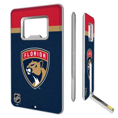 Florida Panthers Stripe Credit Card USB Drive with Bottle Opener