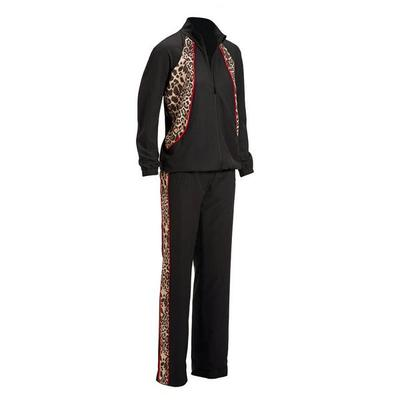 Boston Proper - Animal Print Sport Warm-Up Set - Multi - Xx Small