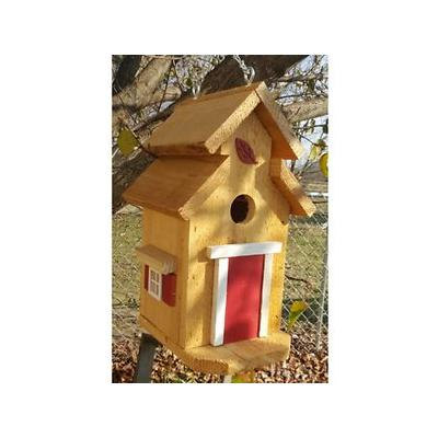 Bird Houses by Mark Cedar Cottage Bird House, Red