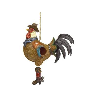 Zingz & Thingz Cowboy Rooster Bird House