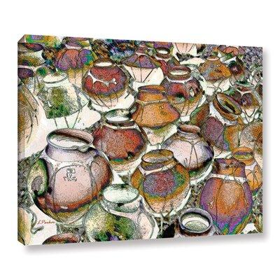 World Menagerie Southwestern Pots By Linda Parker Painting Print On Canvas Format Wrapped Canvas Canvas Fabric Size 36 H X 48 W X 2 D Shefinds