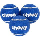 Frisco Fetch Squeaky Chewy Tennis Ball Dog Toy, 3-count