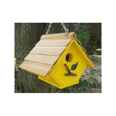 Bird Houses by Mark Chalet Wren Bird House, Yellow