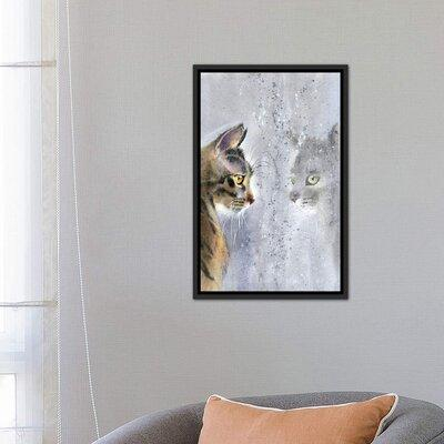 East Urban Home Cat By The Window Ii By Marina Ignatova Wrapped Canvas Painting Print Format Distressed Black Framed Canvas Fabric Paper Shefinds