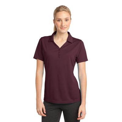 Sport-Tek LST680 Women's PosiCharge Micro-Mesh Polo Shirt in Maroon size 4XL | Polyester
