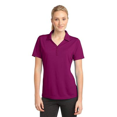 Sport-Tek LST680 Women's PosiCharge Micro-Mesh Polo Shirt in Pink Rush size XS | Polyester