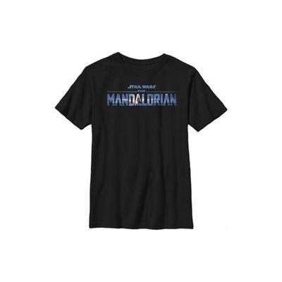 Star Wars: The Mandalorian Black Boys 4-7 Star Wars The Mandalorian New Mando Logo Top