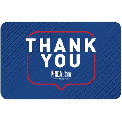 """""""NBA Store Thank You Gift Card ($10 - $500)"""""""