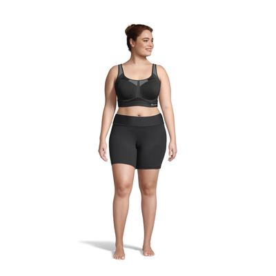 Plus Size Women's Motion Control Underwire Plus Sports Bra by Champion in Black (Size 40 DD)