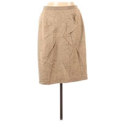 Elie Tahari for Nordstrom Casual Skirt: Tan Solid Bottoms - Size 12