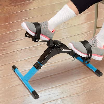 Hometrack Folding Pedal Exerciser in Black/Blue by North American Health+Wellness