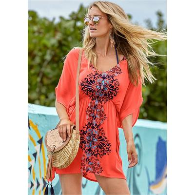 Tassel Detail Cover-Up Cover-ups - Pink/Blue/Multi
