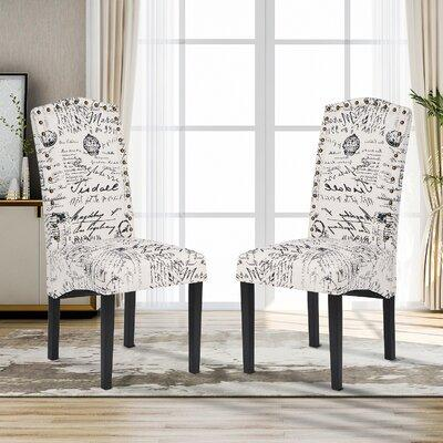Ophelia Co Viveiros Upholstered Dining Chair Upholstery Fabric Solid Wood Upholstered In Wheat Size 39 H X 22 W X 20 D Wayfair On Wayfair Ibt Shop