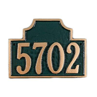 Darby Home Codarby Home Co Rioux 1 Line Wall Address Plaque Finish Chocolate Gold Metal Size 3 H X 5 W Wayfair Pcs 44p Cgw Dailymail